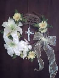 Religious Easter Door Decorations by Grapevine Moss And Dogwood Easter Cross For The Front Door