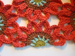 crochet flower window valance pattern squareone for