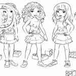 friend drawings spectacular lego friends coloring pages
