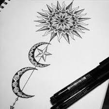 sun u0026 moon tattoo design tattoo pinterest moon tattoo
