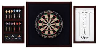 black dart board cabinet chionship backboard set