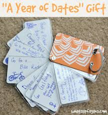ideas for 1 year anniversary how to make your own year of dates gift