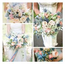 blue wedding bouquets blush blue bridal bouquets the page nebraska wedding day