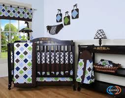 Geenny Crib Bedding 15pcs Brown Blue Geenny Crib Bedding Set Including