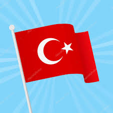 Red Flag Day Vector Illustration For National Day Of Turkey Red Turkish Flag