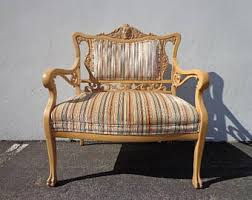 French Settee Loveseat French Country Sofa Etsy