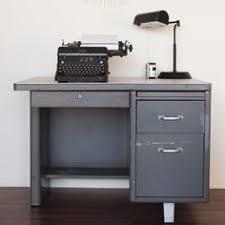 Small Tanker Desk Vintage Invincible Metal Tanker Desk Work Table Industrial Loft