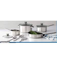 home pans farberware dishwasher safe stainless steel 13 piece cookware set