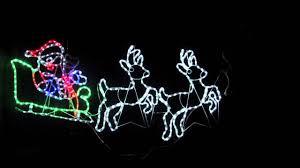 light silhouettes led santa sleigh u0026 reindeers 2 5m youtube
