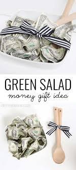 wedding gift dollar amount green salad money gift idea salad bowls bowls and salad