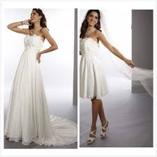 2 wedding dress 5 chiffon strapless sheath 2 in 1 wedding dress with convertible