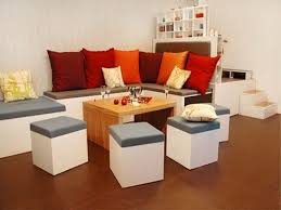 home interior idea for small space with chic furniture