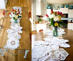 diy table runner ideas hip lace table runners and other modern diy ideas for doilies