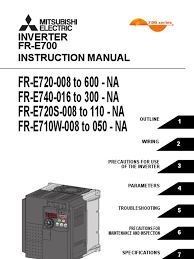 mitsubishi e700 variable frequency drive vfd instruction manual
