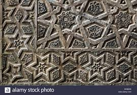 ornaments of the bronze plate ornate door of sultan qalawun mosque