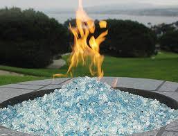 glass rocks for fire pit amazon com az patio heaters fire pit fire glass in bahama blend