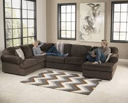 Ashley Furniture Living Room Sets 999 Jessa Place Chocolate Sectional Right Side Chaise Living