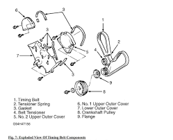 diagram removal and installation of a 1996 magna te v6 water pump