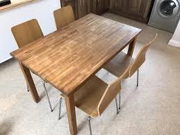 ikea oak dining table ebay ikea bjursta extendable dining table table