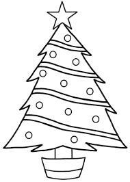 christmas tree coloring printable print download area free