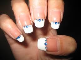 awesome nails by nicole notd rhinestone french manicure