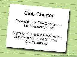 how to write a club charter 12 steps with pictures wikihow