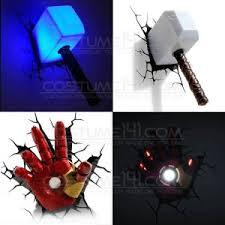Iron Man Night Light Costume One For Onemarvel Avengers Thor Hammer Mjolnir Iron Man