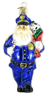 world officer santa glass blown