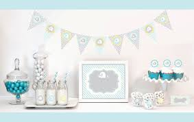 blue elephant baby shower decorations blue elephant decorations starter kit baby shower decorations