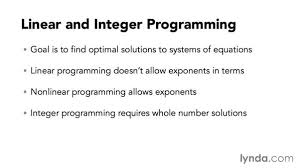 introducing linear and integer programming