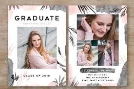 senior graduation invitations senior graduation announcement card templates creative market pro