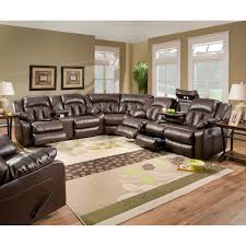 Reclining Leather Sectional Sofas by Furniture Simmons Sectional For Comfortable Seating U2014 Threestems Com