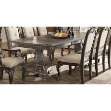 standard dining tables dining room rc willey washed gray ornate double pedestal dining table kiera collection