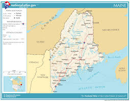 map of maine cities united states geography for maine