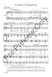 thanksgiving piano a psalm of thanksgiving unison two part b j w pepper sheet music