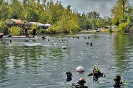 Mermet springs illinois scuba dive site dive in first class