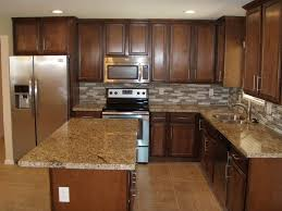 contemporary kitchen with l shaped u0026 limestone tile floors in mesa