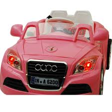 pink audi convertible 12v twin motors audi tt style rechargeable kids ride on car