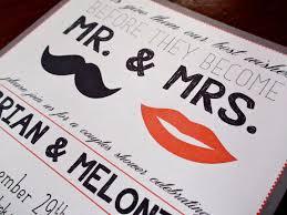 mustache invitations and mustache wedding shower invitation
