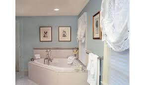 corner tub featured in master bath renovation design ideas