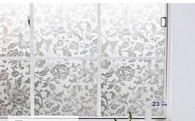 sliding glass door window clings frosted uv static cling 60cm x 300cm living room decorative