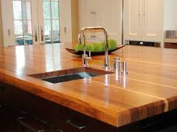natural contemporary kitchen with lumber kitchen island combined