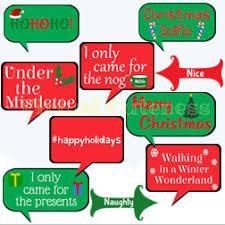 christmas photo booth props christmas photo booth props christmas speech bubbles