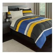 Blue Full Comforter Plush Collection Pc Modern Comforter Set