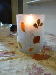 having fun at home wax paper candle holders