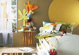 bedroom cute kids playroom idea with light brown wall paint color