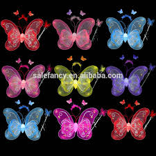light up fairy wings light up fairy wings led wings 3 pieces suit butterfly party wings