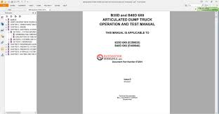 bell equipment b35d u0026 b40d operation test manual dumptruck