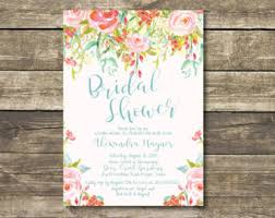 chagne brunch invitations bridal shower invitation aqua blue wedding gown printed