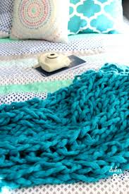 easy arm knit blanket dukes and duchesses